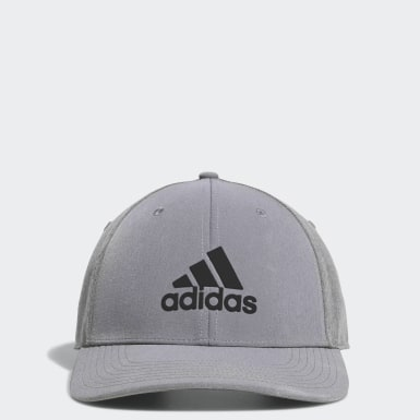 Men's Golf Grey A-Stretch adidas Badge of Sport Tour Hat
