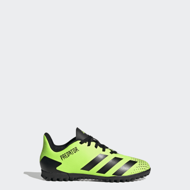Children Soccer Green Predator Mutator 20.4 Turf Shoes