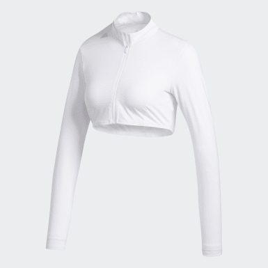 Women's Golf White Cropped UV Base Layer
