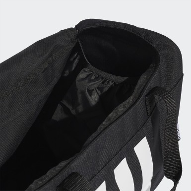 Lifestyle Black 3-Stripes Duffel Bag Small