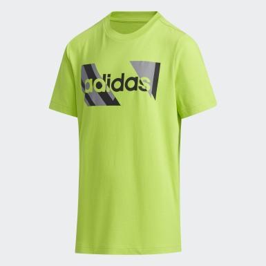 เด็กผู้ชาย Sport Inspired สีเขียว เสื้อยืด