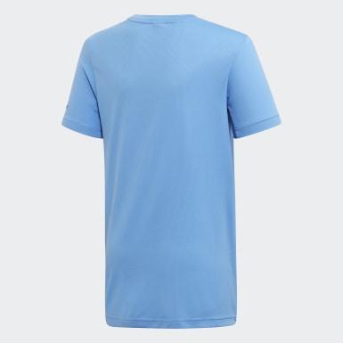 Boys Training Blue All Caps Tee