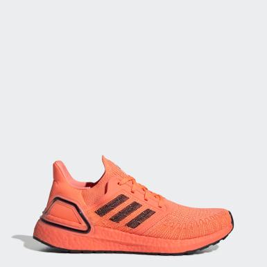 Sapatos Ultraboost 20 Laranja Mulher Running