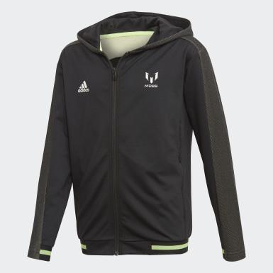 Veste à capuche Messi Noir Garçons Training