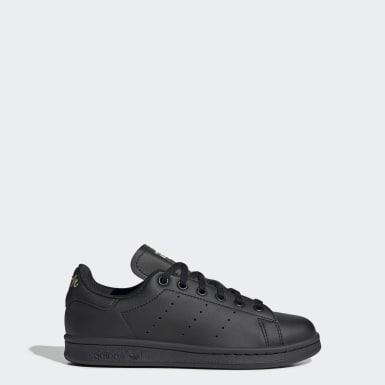 Kids Originals Black Stan Smith Shoes