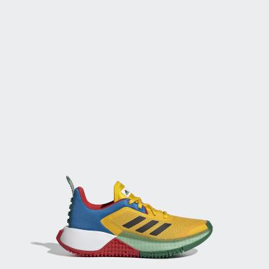 Chaussure adidas x LEGO® Sport jaune Enfants Course