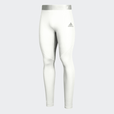 Youth Training White Alphaskin Baselayer Long Tights