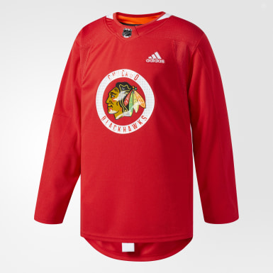 Men's Hockey Multicolor Blackhawks Authentic Practice Jersey