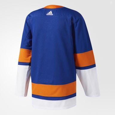 Maillot Islanders Domicile Authentique Pro bleu Hockey