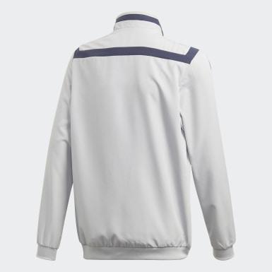 Boys Football Grey FC Bayern Presentation Jacket