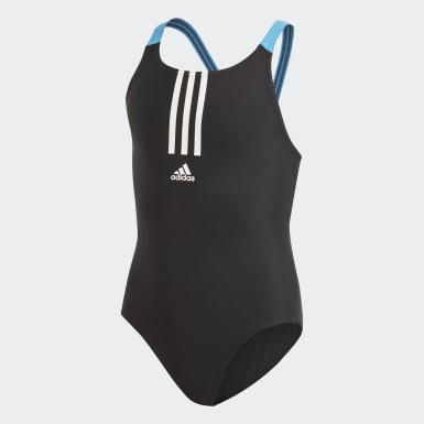 Dievčatá Plávanie čierna Plavky Fitness