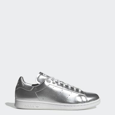 Frauen Originals Stan Smith Schuh Silber