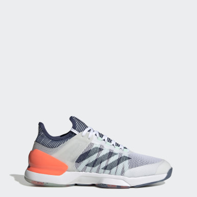 Men's Tennis White Adizero Ubersonic 2.0 Shoes