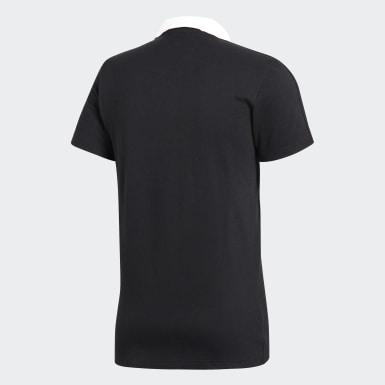 Männer Fußball Condivo 18 Cotton Poloshirt Schwarz