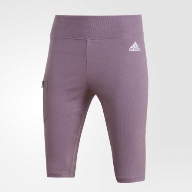 Shorts de Ciclismo ID Morado Mujer Athletics