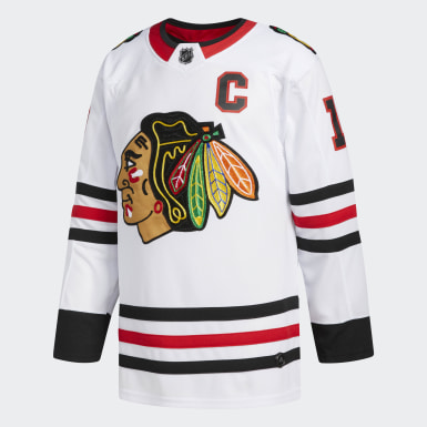Men Hockey White Blackhawks Toews Away Authentic Pro Jersey