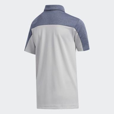 Boys Golf Grey Heathered Colorblock Polo Shirt