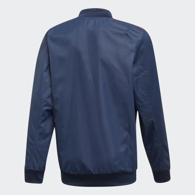 Boys Football Blue Arsenal Anthem Jacket