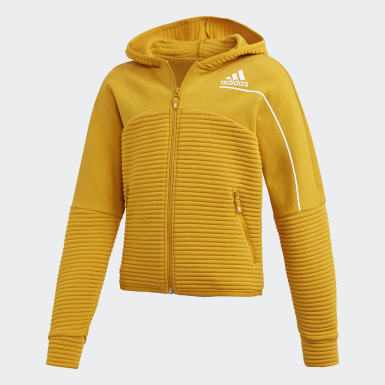 Hoodie Z.N.E. AEROREADY Warm Full-Zip Oro Ragazza Training