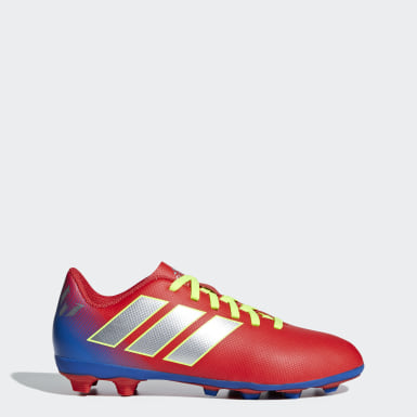 Children Football Red Nemeziz Messi 18.4 Flexible Ground Boots