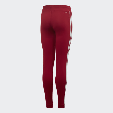 Youth Training Burgundy Equip 3-Stripes Tights