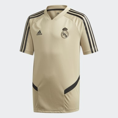 Kids Football Gold Real Madrid Training Jersey