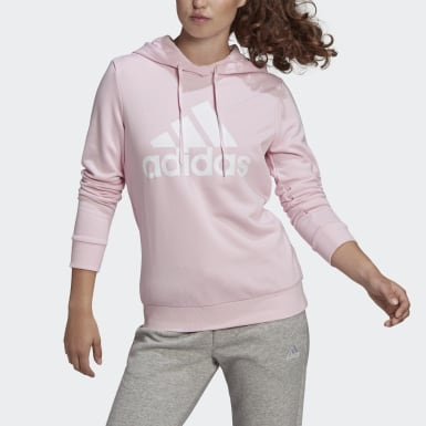 Women Sport Inspired Pink Essentials Relaxed Logo Hoodie