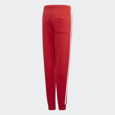 Pantalon Must Haves 3-Stripes Rouge Garçons Training