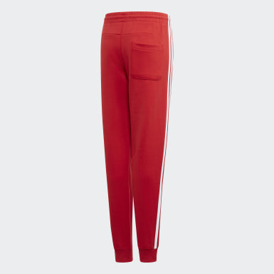 Pantaloni Must Haves 3-Stripes Rosso Ragazzo Training
