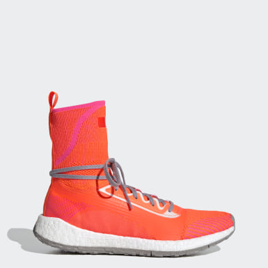 Dam adidas by Stella McCartney Orange Pulseboost HD Mid Shoes