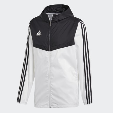 Men Football White Tiro Windbreaker