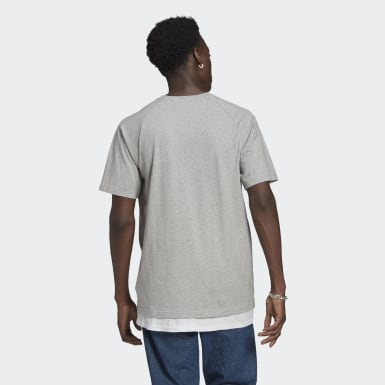 Men Originals Grey Adicolor Tricolor Tee