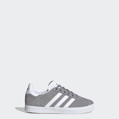 Zapatilla Gazelle Gris Niño Originals