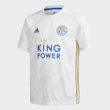 Kinderen Voetbal wit Leicester City 20/21 Uitshirt