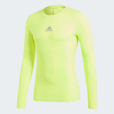 Camiseta Alphaskin Sport Amarillo Hombre Fútbol