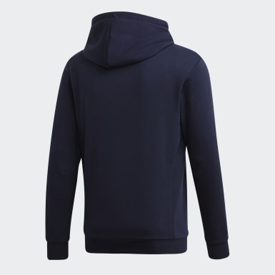 Männer Athletics Must Haves Badge of Sport Hoodie Blau