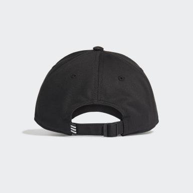 Training Black 3-Stripes Twill Beyzbol Şapkası