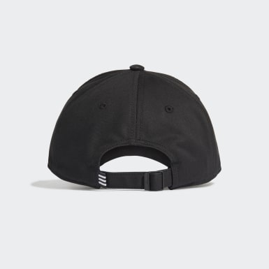 Tennis Svart Baseball 3-Stripes Twill Cap