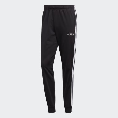Men's Training Black Essentials 3-Stripes Tapered Tricot Pants