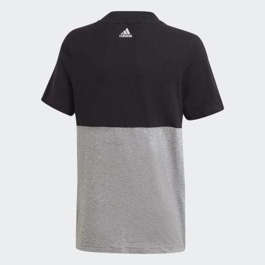 Kluci Athletics černá Tričko Linear Colorblock