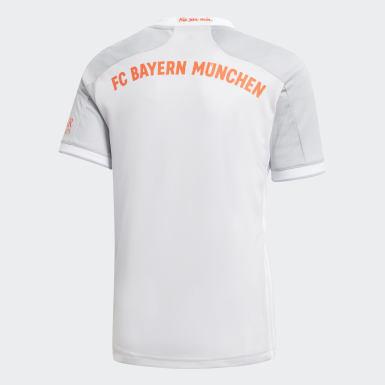 Kinderen Voetbal grijs FC Bayern München 20/21 Uitshirt
