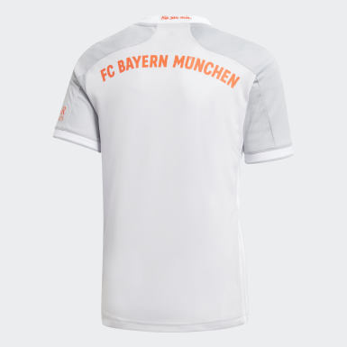Kinder Fußball FC Bayern München 20/21 Auswärtstrikot Grau