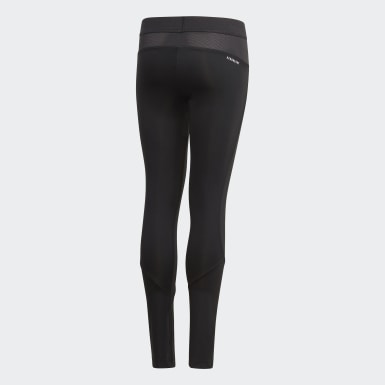 Kinder Training Alphaskin AEROREADY Warming lange Tight Schwarz