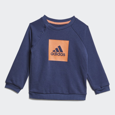 Kinder Training 3-Streifen Logo Jogginganzug Blau