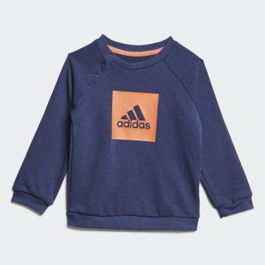 Børn Træning Blå 3-Stripes Logo joggingdragt