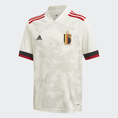 Youth 8-16 Years Football White Belgium Away Jersey