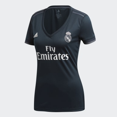Women Football Grey Real Madrid Away Jersey