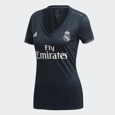 Dam Fotboll Grå Real Madrid Bortatröja