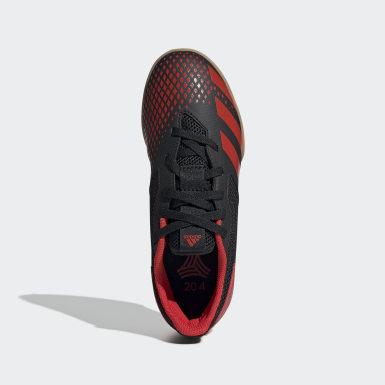 เด็กผู้ชาย ฟุตบอล สีดำ รองเท้าฟุตซอลในร่ม Predator 20.4