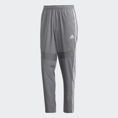 Men Football Grey Tiro 19 Woven Tracksuit Bottoms